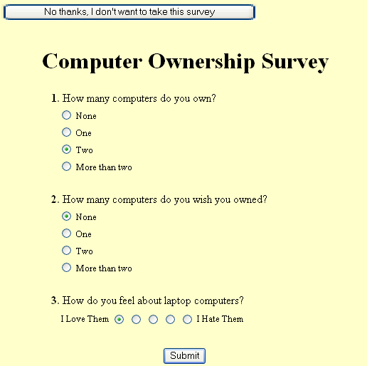 researchcourse questionnaire examples 1